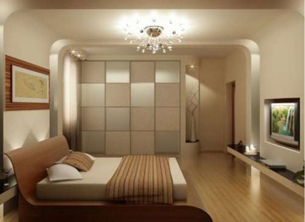 шкаф-купе в интерьере спальни фото