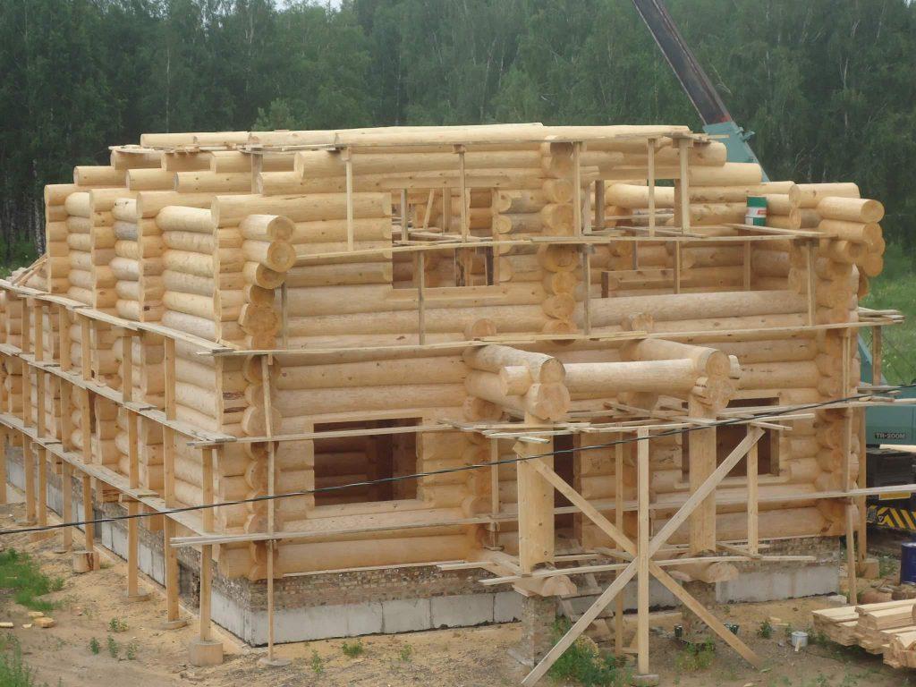 Поэтапное строительство дома из бревна своими руками