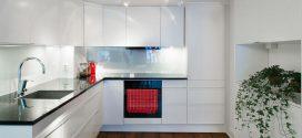 Оформление маленькой кухни в стиле хай-тек